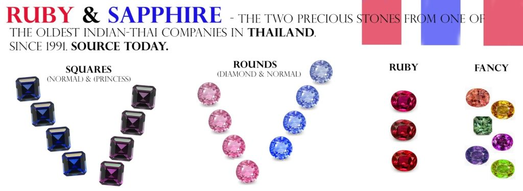Wholesale ruby and sapphire from thailand