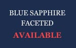 Blue Sapphire Faceted