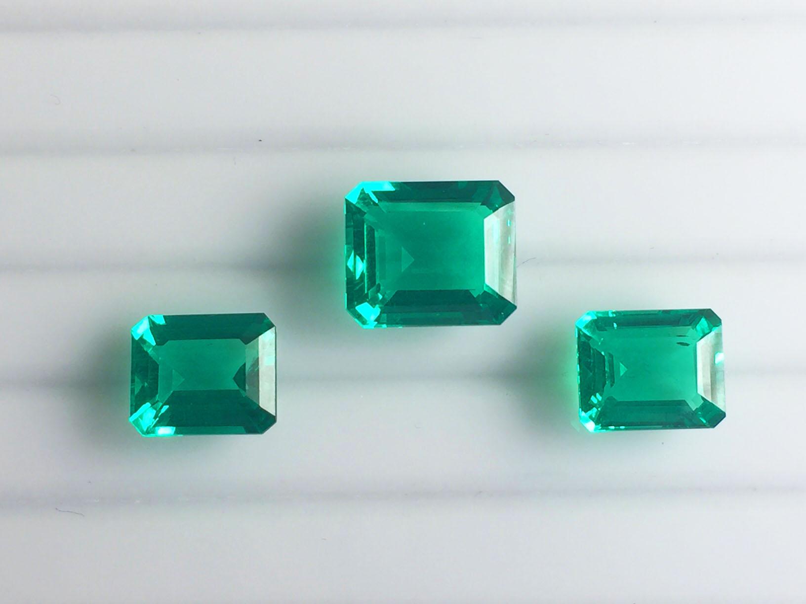Created emerald (Columbian A grade)