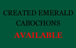Created Emerald Cabochons