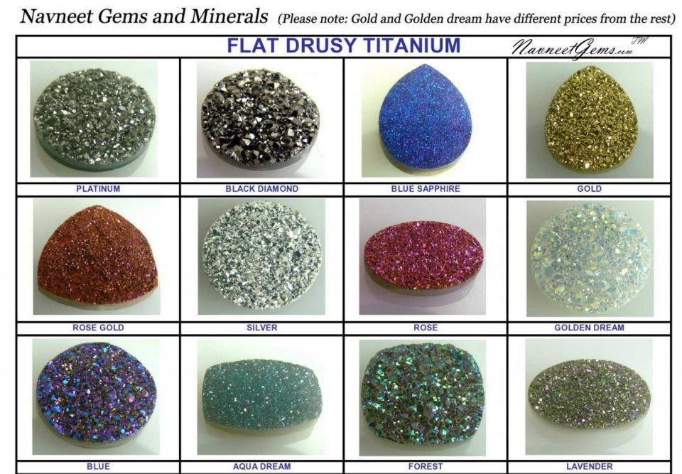 Drusy Quartz Color Chart Wholesale Gemstones Jewelry Semi