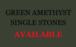 Green Amethyst Single Stones