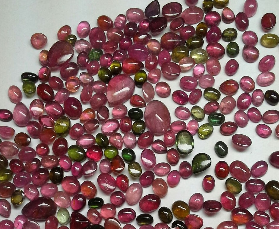 Mix tourmaline cabochon