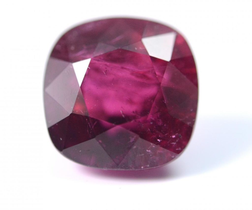 Rhodolite Garnet cushion cut