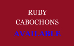 Ruby Cabochons