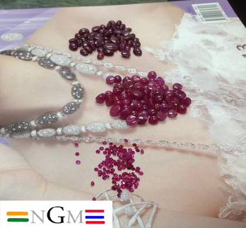 Ruby Gemstones mix A, AA and AAA grade