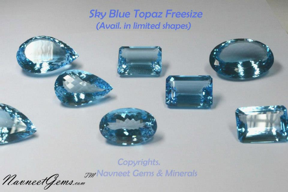 Sky Topaz Gemstones mix sky bt