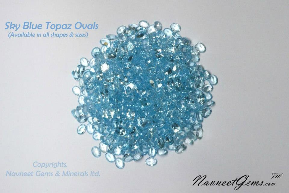 Sky Topaz Ovals mix lot