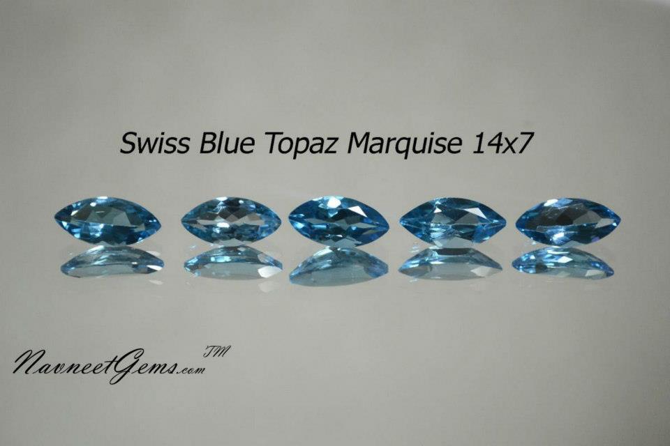 Swiss Blue Topaz Marquise