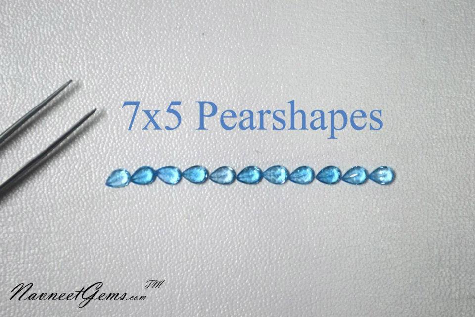 Swiss Blue Topaz Pears