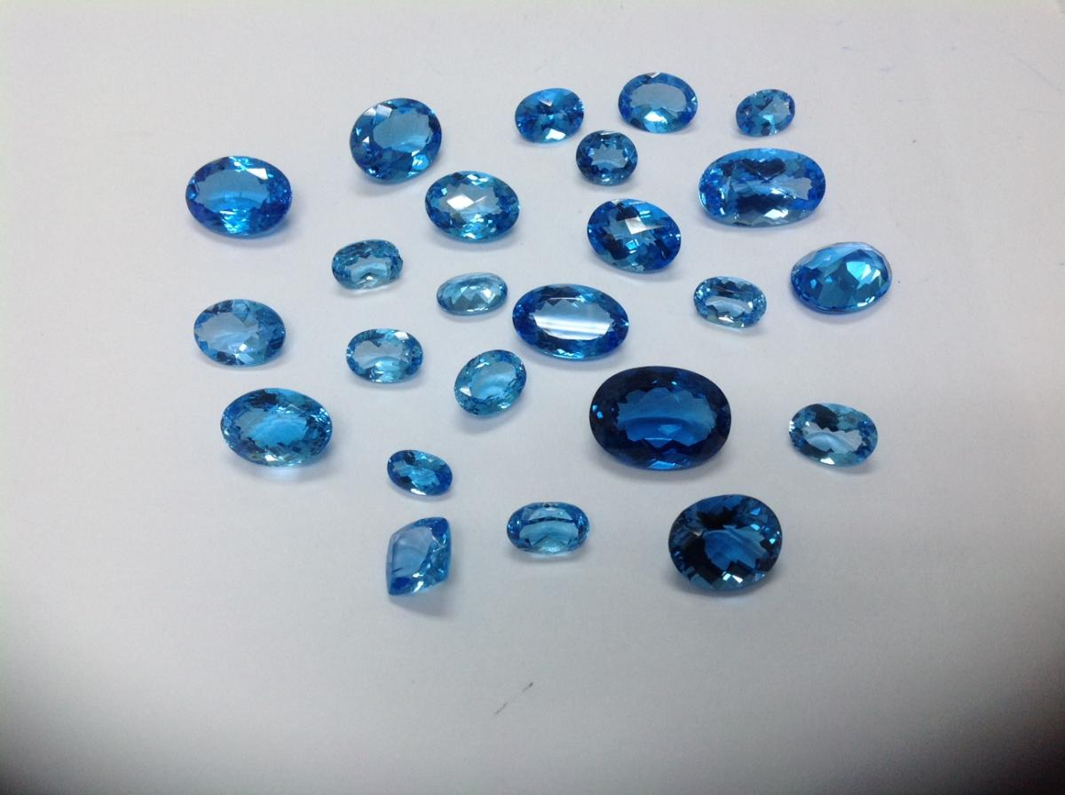 Swiss Topaz oval 5 carats to 20 carats