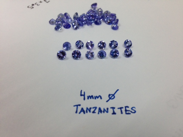 4mm Tanzanite Rounds Faceted