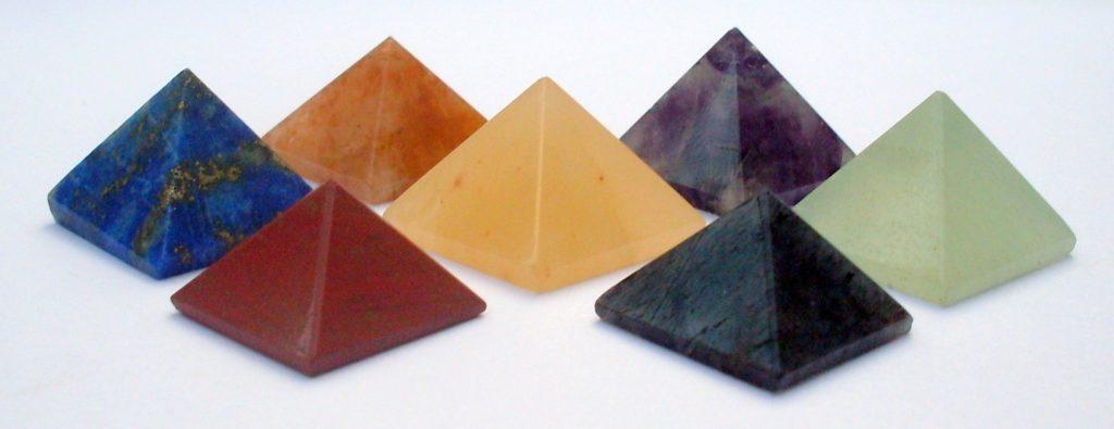 Semi precious stones pyramids