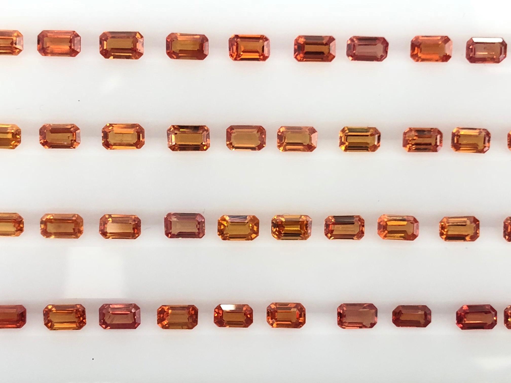 Orange sapphire octagons