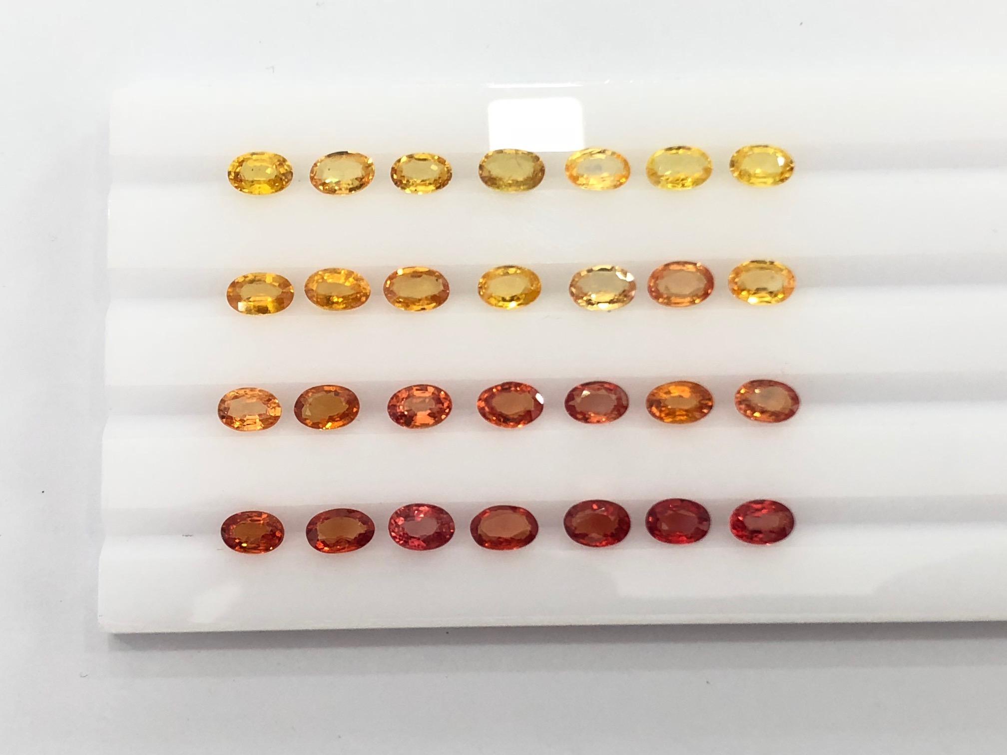 eternity yellow sapphire stones