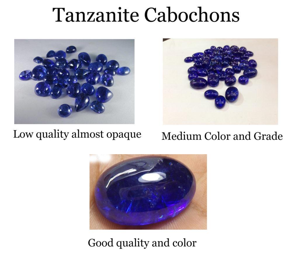 tanzanite cabochons navneetgems