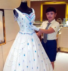Wedding dress with gemstones wholesale