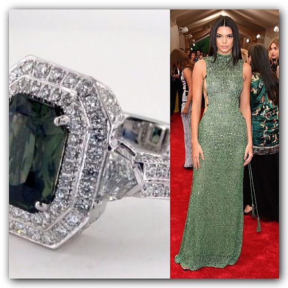 Kendall Jenner in Green Sapphire from Instagram