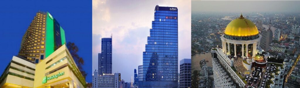 Silom Hotels Holiday Inn The Pullman n Lebua State Tower