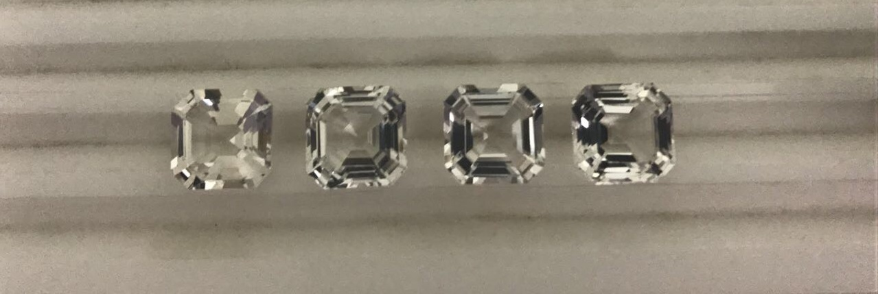 natural white topaz gemstones