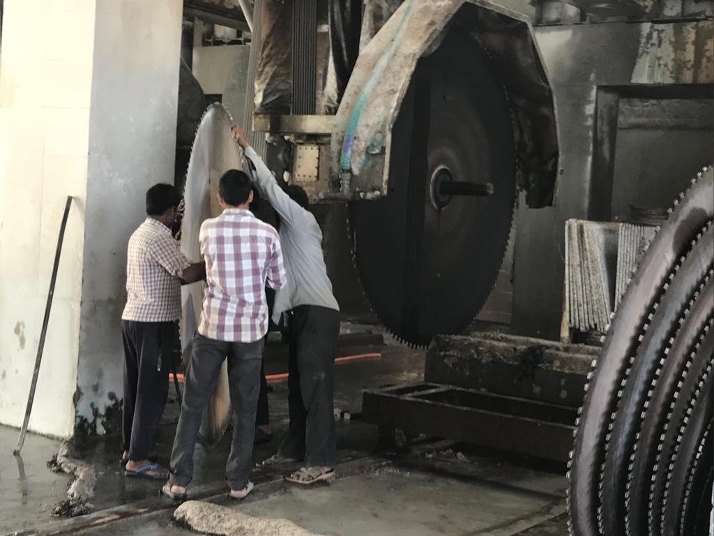 Stone Factory workers in action