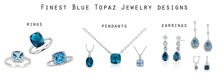 wholesale silver jewelry of blue topaz