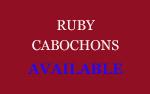 Ruby Cabochons