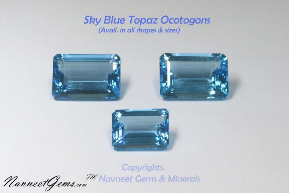 Sky Blue Topaz octagons