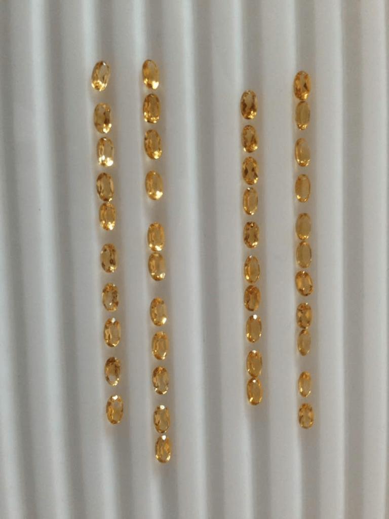 small sizes ovals 2 shades are medium yellow and orange yellow