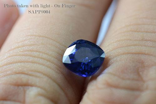 Blue Sapphire Cushion