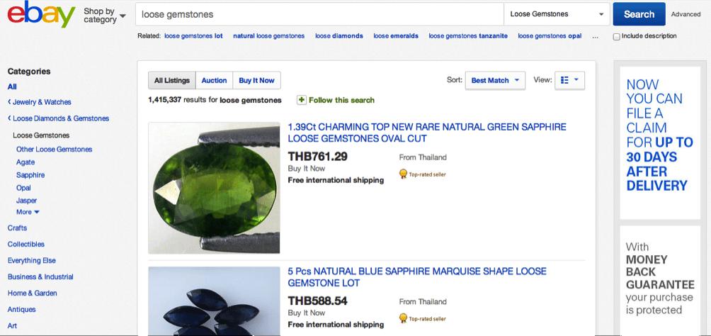 Ebay Gemstone Sellers from Thailand
