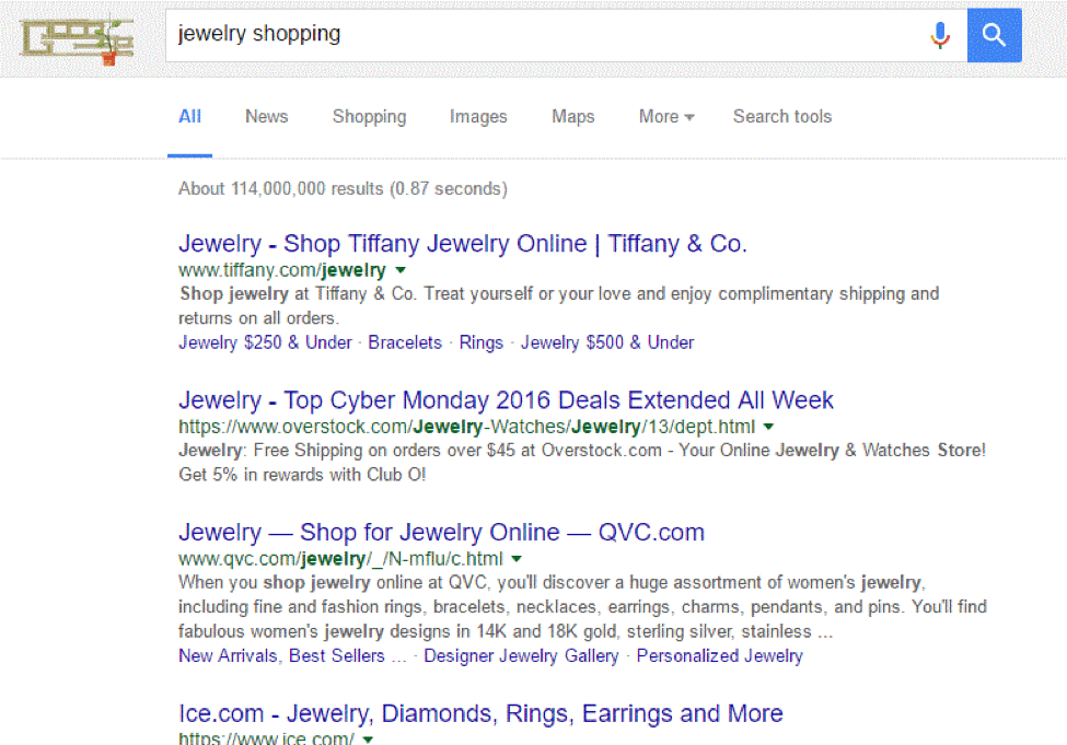 Jewelry Shopping research