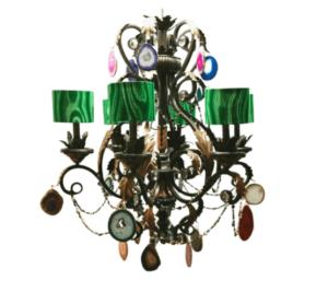 Malachite chandeliers