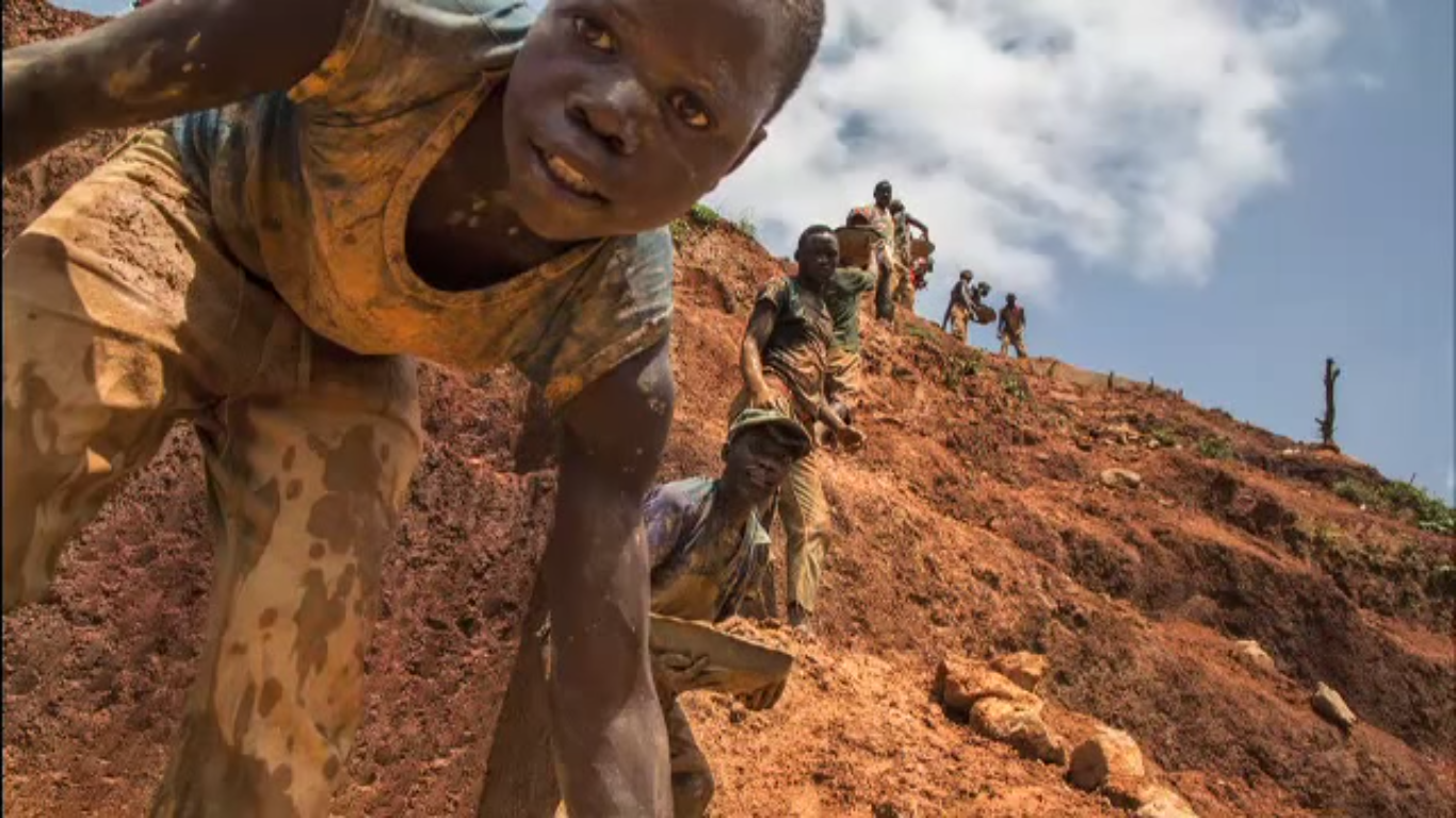 children forced to work in mines