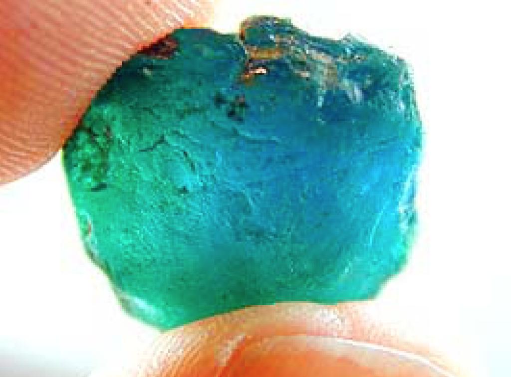Ethiopian-Paraiba-Tourmaline-Rough from gem society
