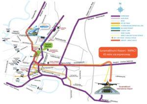 map to Impact Bangkok Gem Show