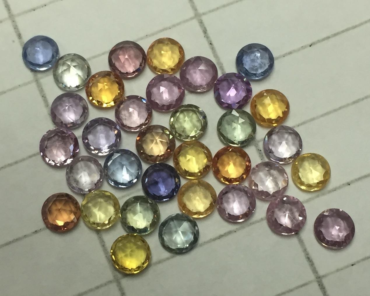 Multi Sapphire Rose Cut sapphire