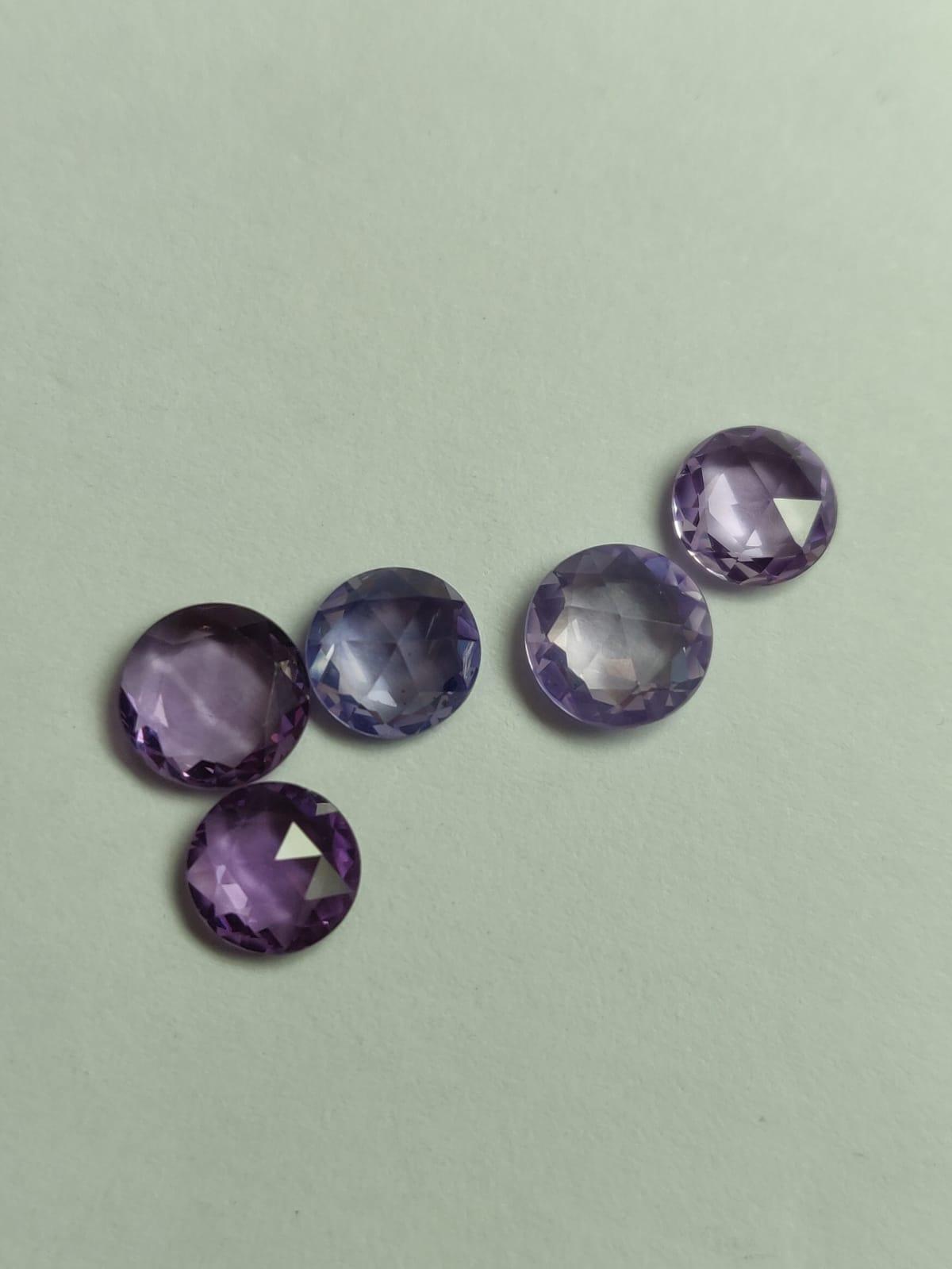 Purple Color rose cut Sapphire