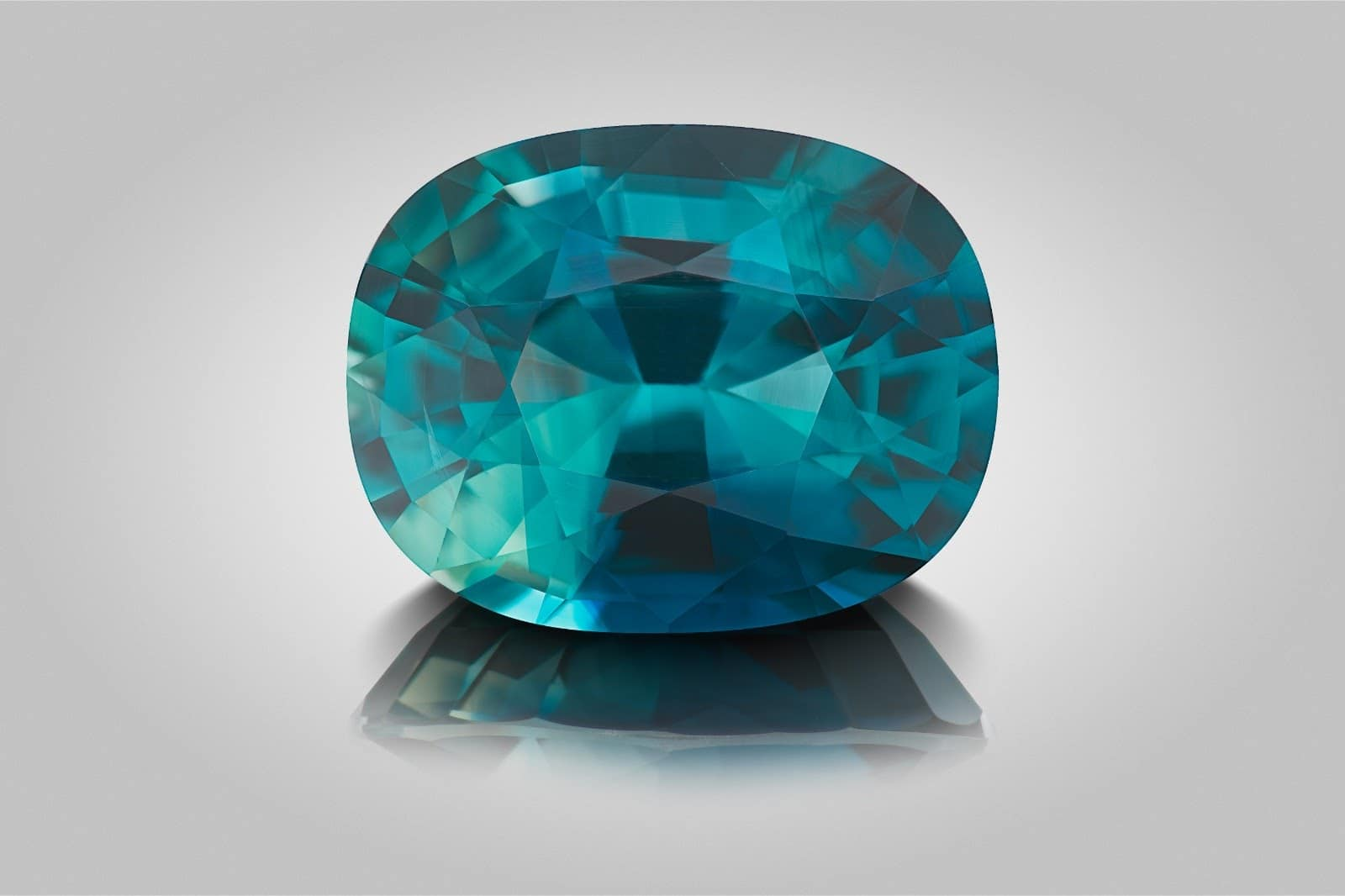 A stunning step cut oval 6.11 carat mermaid sapphire